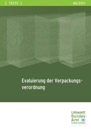 Evaluierung Verpackungsverordnung - Umweltbundesamt