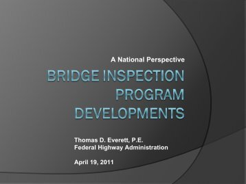 1A National Perspective on Bridge Inspection - WSU Conference ...