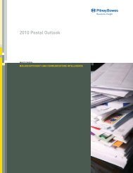 2010 Postal Outlook - Pitney Bowes Business Insight