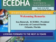 President's Welcome and Conference Overview - ecedha