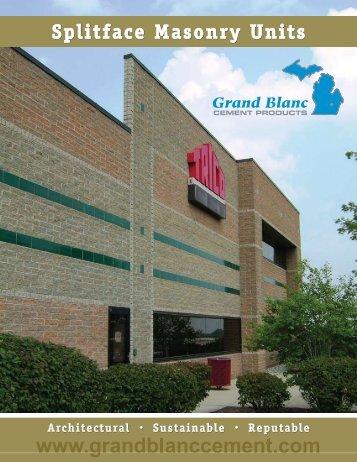 Splitface Masonry Units - Grand Blanc  Cement Products