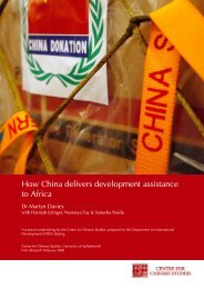 How China delivers development assistance to Africa