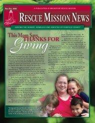 November / December 2008 - Bridgeport Rescue Mission