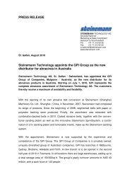PRESS RELEASE Steinemann Technology appoints the GPI Group ...