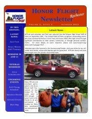 View HFR Newsletter October 2013 in New Window - Honor Flight ...