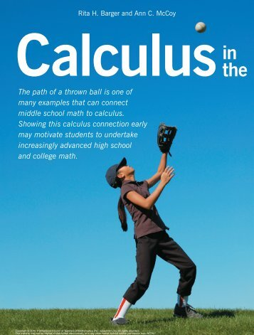 Calculus in the middle school. - New Jersey City University