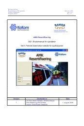 Introduksjon til applikasjon - KoKom