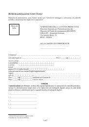Modulo richiesta autorizzazione centri tecnici tachigrafi digitali