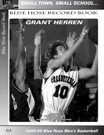GRANT HERREN Blue Hose Record Book - Presbyterian College ...