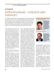 Hüftarthroskopie – ambulant oder stationär?