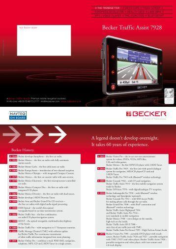 becker traffic assist 7977 becker polska. Black Bedroom Furniture Sets. Home Design Ideas