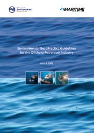 Environmental Best Practice Guidelines for the Offshore Petroleum ...