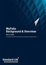 MyFolio Background & Overview March 2012 - Adviserzone
