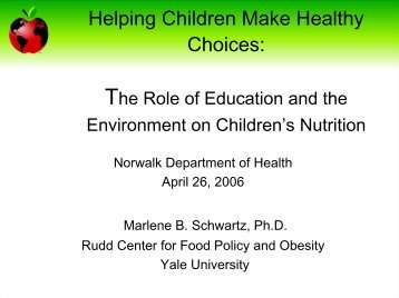 But How Do I Tell Parents Not to Bring Cupcakes? - Rudd Center for ...