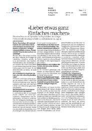 Stocks: Lieber etwas ganz einfaches machen - Swiss Finance Institute