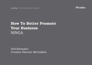 Neil Ramsden- How to Better Promote Your Business - Ninga