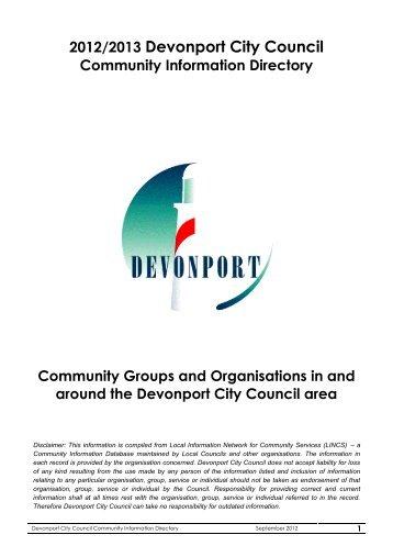 Community Directory September 2012 - Devonport City Council