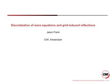 Discretization of wave equations and grid-induced reflections - CWI