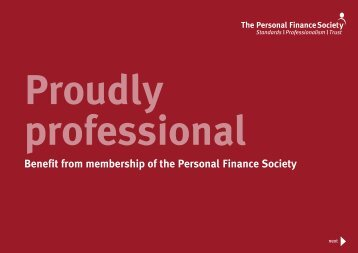 Professional Training - The Personal Finance Society