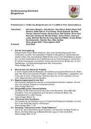 siehe Protokoll - Gönnheim
