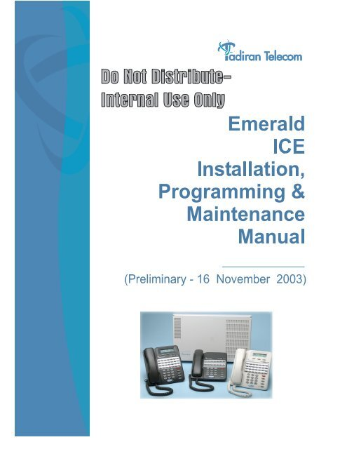 Emerald ICE Installation & Maintenance Manual pdf