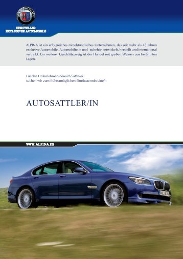 AUTOSATTLER/IN - Alpina