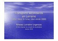 Transports secondaires en Lorraine - COLMU