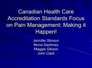 Workshop 110 - Sawhney - The Canadian Pain Society