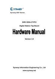 SHR-16DA-CT/PCI Digital Station Tap Board Version 3.0 Synway ...