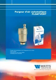 Purgeur d'air automatique FLOATVENT - Watts Industries