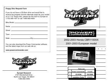 2002-2003 Honda CBR1100XX 2001-2003 European ... - MPS Racing