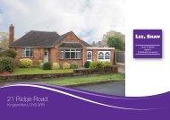 21 Ridge Road - Lee Shaw Partnership