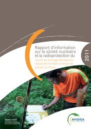 Rapport annuel 2011 du CSA (PDF - 3.93 Mo) - Andra