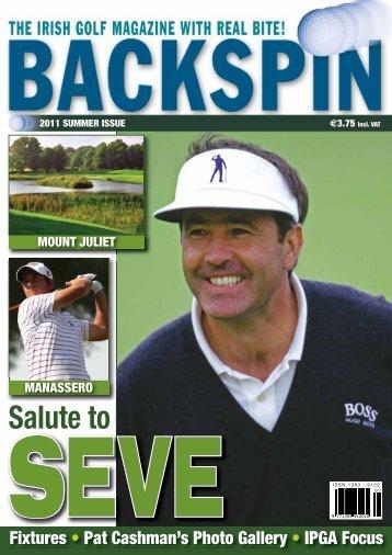 Salute to - Backspin Golf Magazine