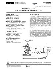TSC2046: Low Voltage I/O Touch Screen Controller (Rev. B)