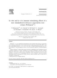 In vitro and in vivo immune stimulating effects of a ... - Monoselect.it