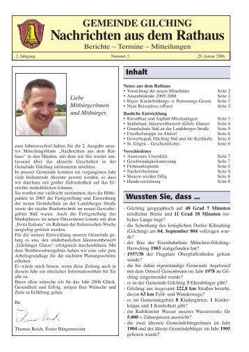 Nachrichten aus dem Rathaus - Gemeinde Gilching