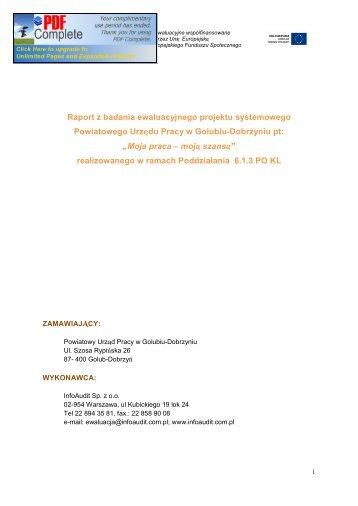 Raport z badania PUP Golub-Dobrzyń - mojregion.eu