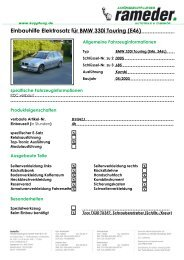 Einbauhilfe Elektrosatz für BMW 330i Touring (E46)