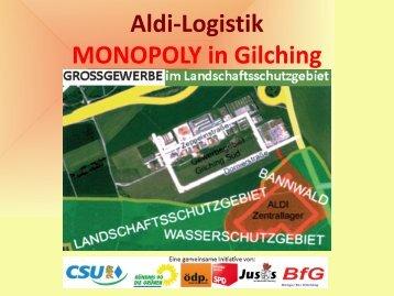 Aldi-Logistik MONOPOLY in Gilching - Gilching bleibt fair