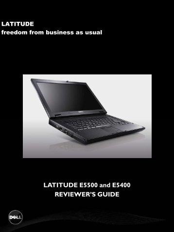 LATITUDE E5500 and E5400 REVIEWER'S GUIDE - Tradedoubler