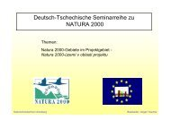 Natura 2000-Gebiete im Projektgebiet - Deutsch-Tschechische ...
