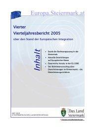 Vierter Vierteljahresbericht - Europa Steiermark - Land Steiermark
