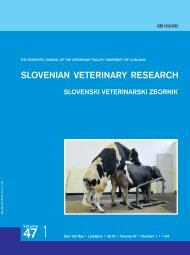 SLOVENIAN VETERINARY RESEARCH