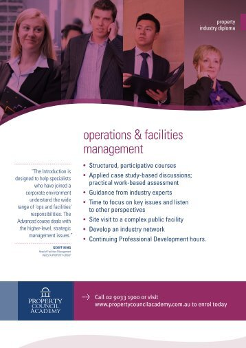 operations & facilities management - Property Council Academy