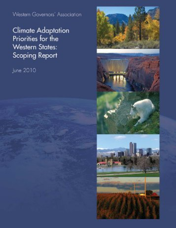 Climate Adaptation Priorities for the Western States: Scoping Report