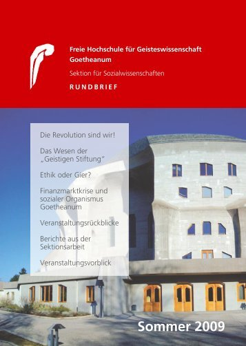 RUNDBRIEF (PDF) -  Goetheanum