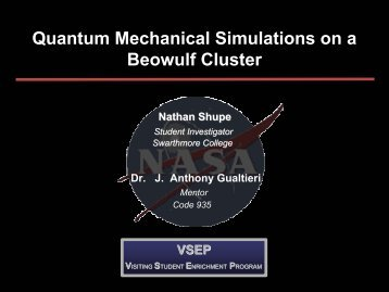Quantum Mechanical Simulations on a Beowulf Cluster