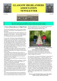 Newsletter No4 - August 2008 - The Royal Highland Fusiliers