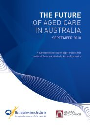 Future of Aged Care Report - National Seniors Australia